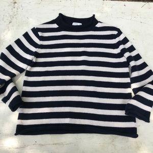 Crewcuts Navy and cream striped sweater